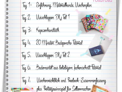 Frottewoche Tag 2 - Waschlappen DIY Teil 1